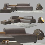 Sofá Noa 3d model