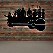 guitar and people, people and music 3d model