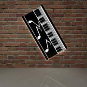 piano and music 3d model