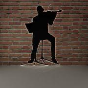 小提琴和男人 3d model