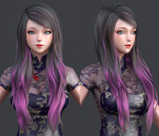 modelo 3D de polygon hair 11 modelo 3d