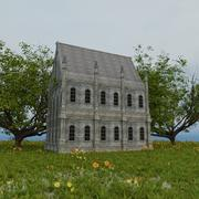 古い歴史的なヨーロッパの建物 3d model
