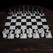 Tutti i pezzi degli scacchi 3d model