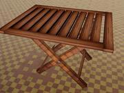 木製折りたたみ式テーブル 3d model