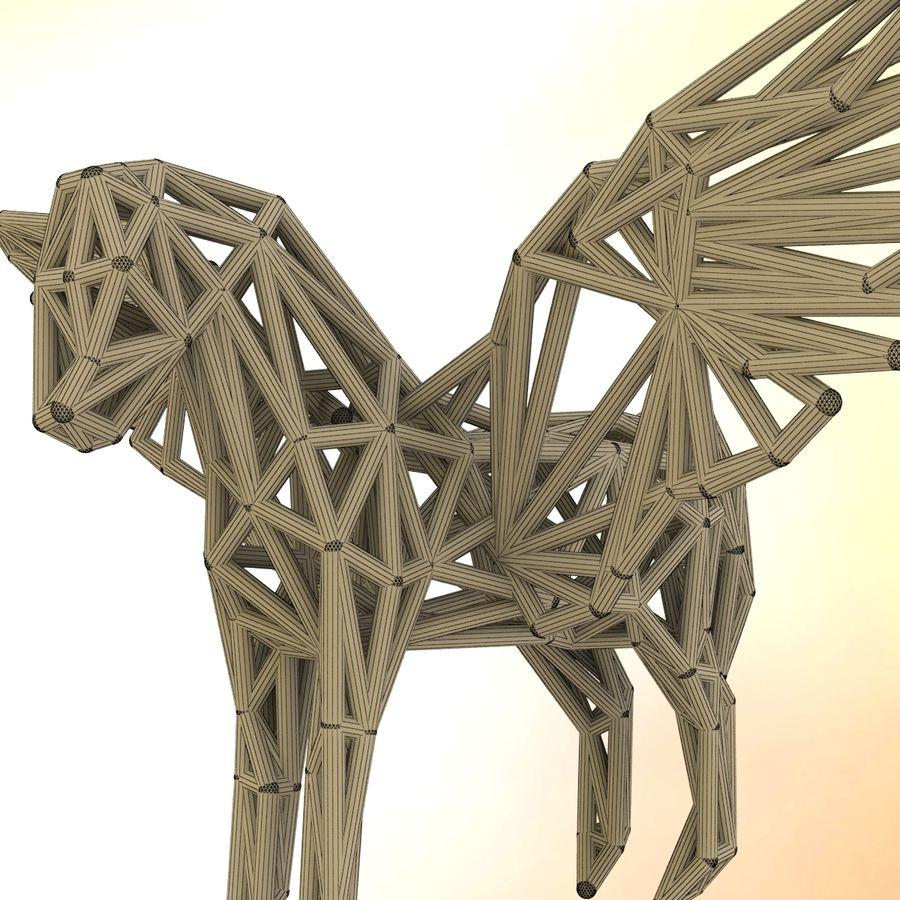 Pegasus royalty-free 3d model - Preview no. 8