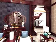 中国传统风格的阁楼客厅 3d model