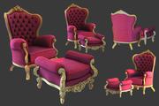 cadeira de santa 3d model