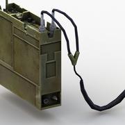 Radio di comunicazione militare 3d model