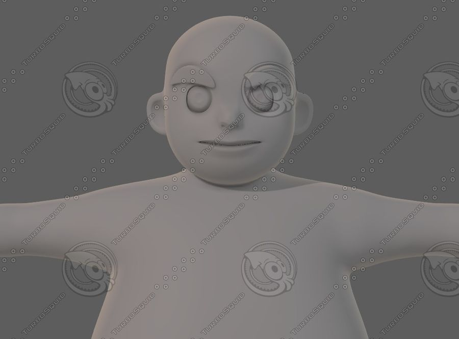 Base mesh boy character V12 royalty-free 3d model - Preview no. 18