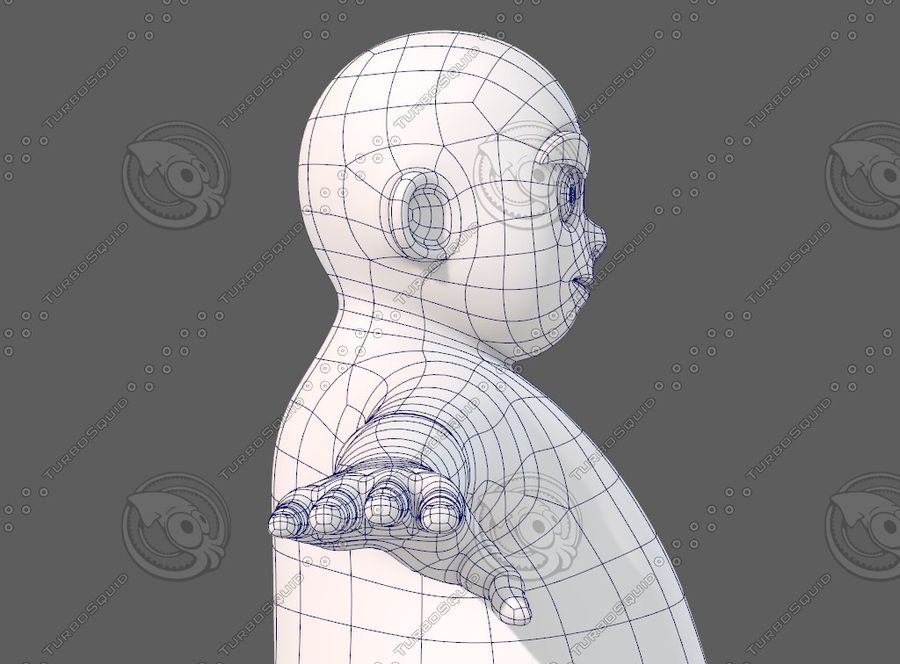 Base mesh boy character V12 royalty-free 3d model - Preview no. 28