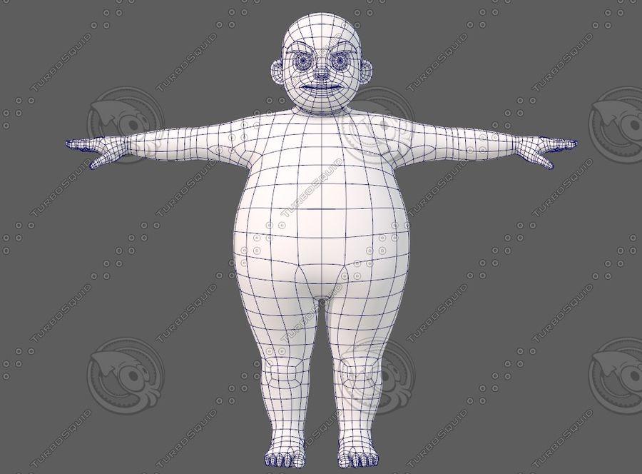 Base mesh boy character V12 royalty-free 3d model - Preview no. 10