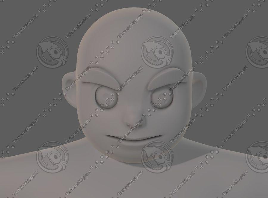 Base mesh boy character V12 royalty-free 3d model - Preview no. 42