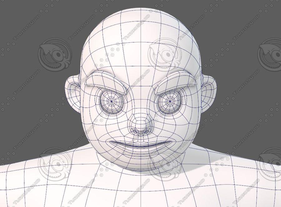 Base mesh boy character V12 royalty-free 3d model - Preview no. 43