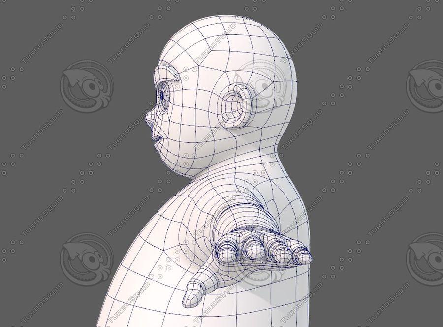 Base mesh boy character V12 royalty-free 3d model - Preview no. 32