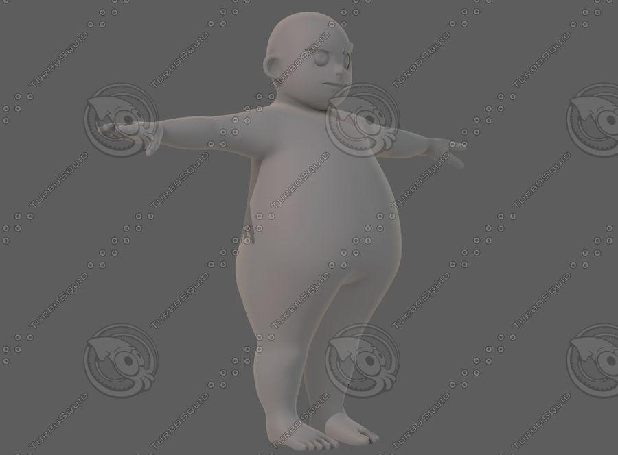 Base mesh boy character V12 royalty-free 3d model - Preview no. 3