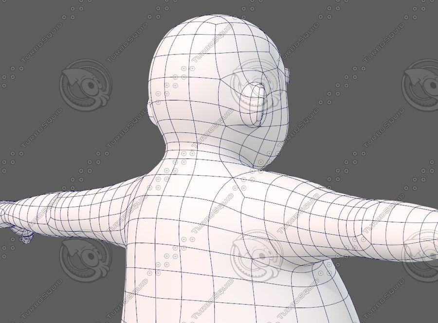 Base mesh boy character V12 royalty-free 3d model - Preview no. 29