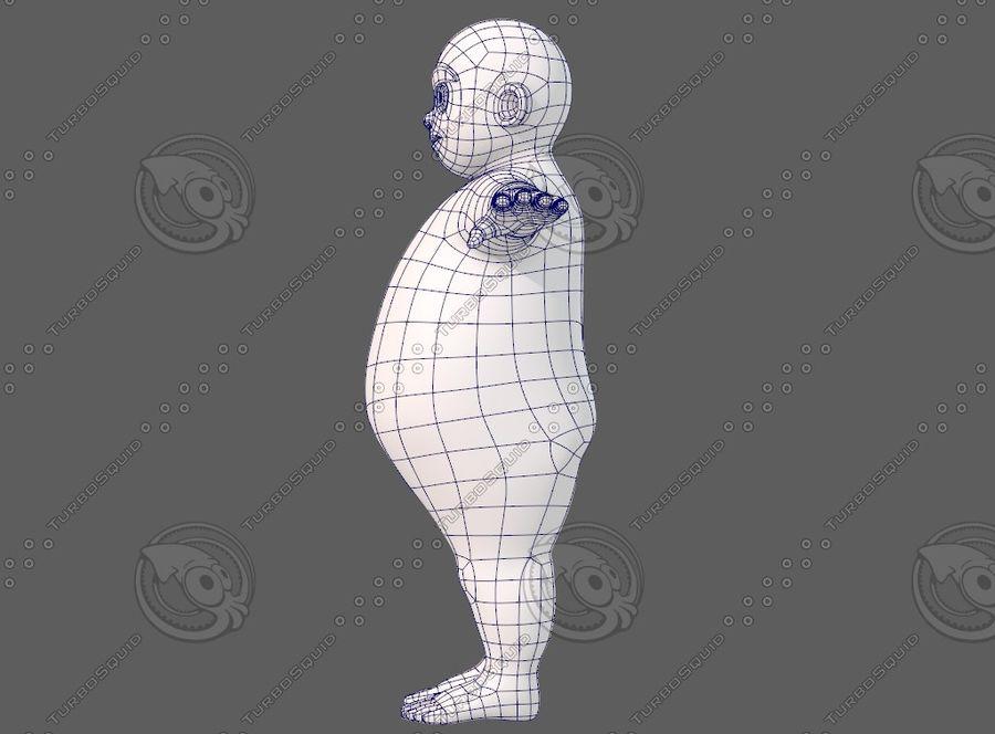 Base mesh boy character V12 royalty-free 3d model - Preview no. 16