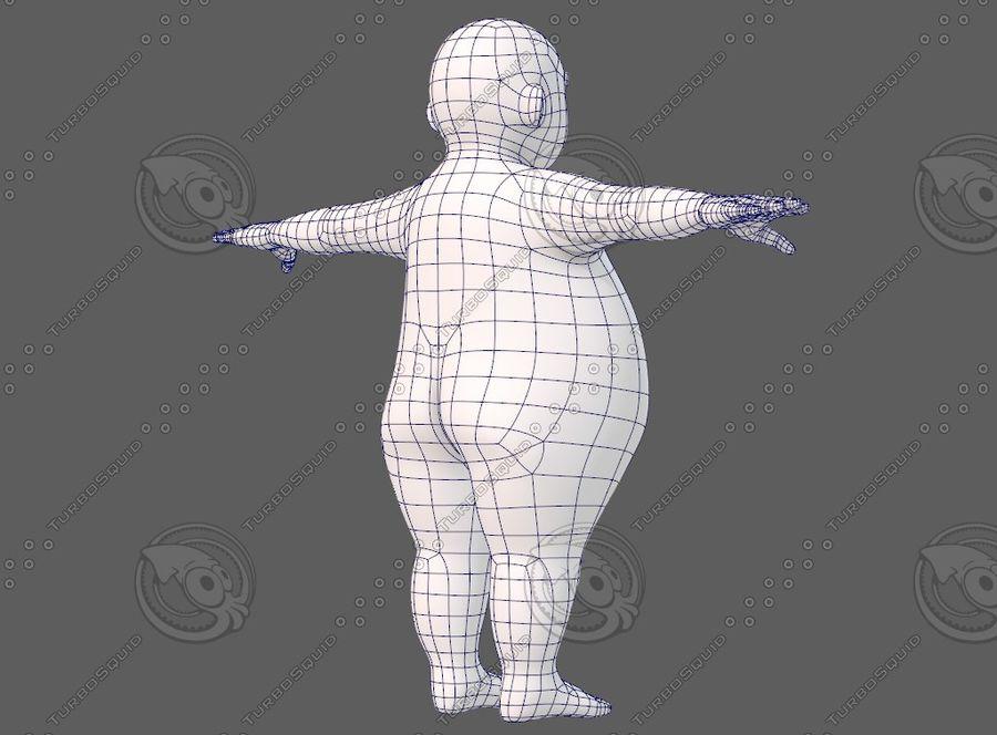 Base mesh boy character V12 royalty-free 3d model - Preview no. 13
