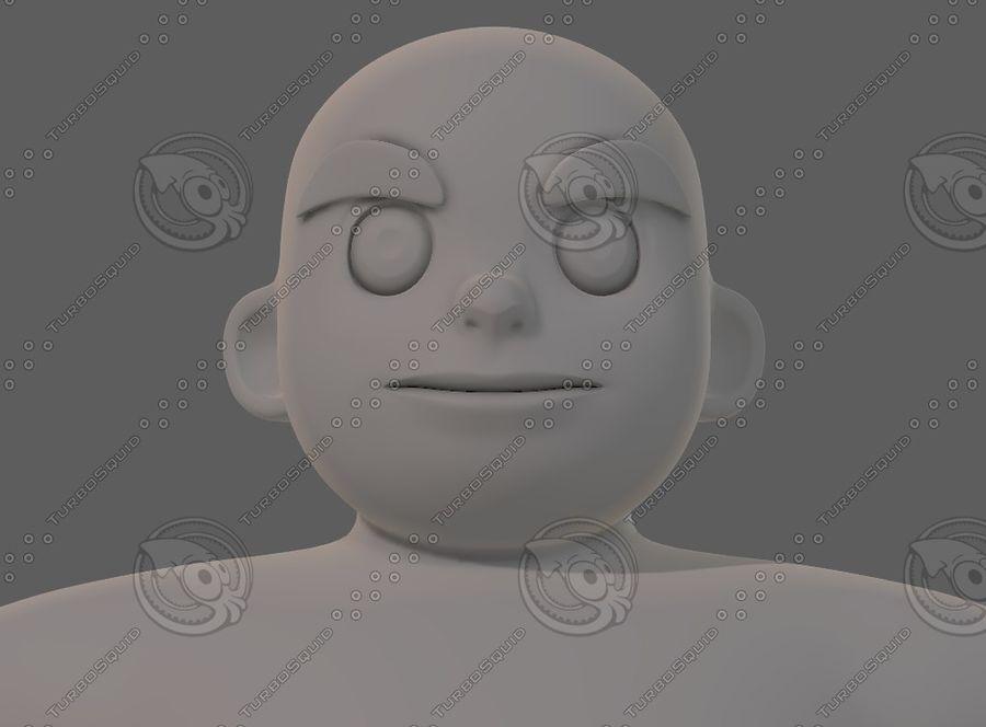 Base mesh boy character V12 royalty-free 3d model - Preview no. 44