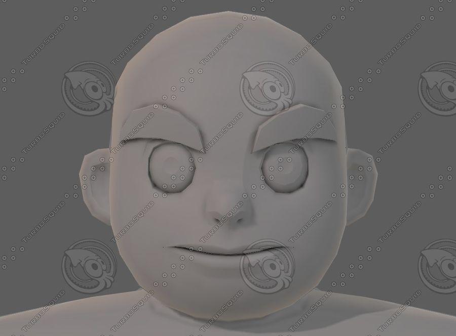Base mesh boy character V12 royalty-free 3d model - Preview no. 36