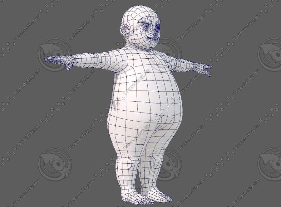 Base mesh boy character V12 royalty-free 3d model - Preview no. 11