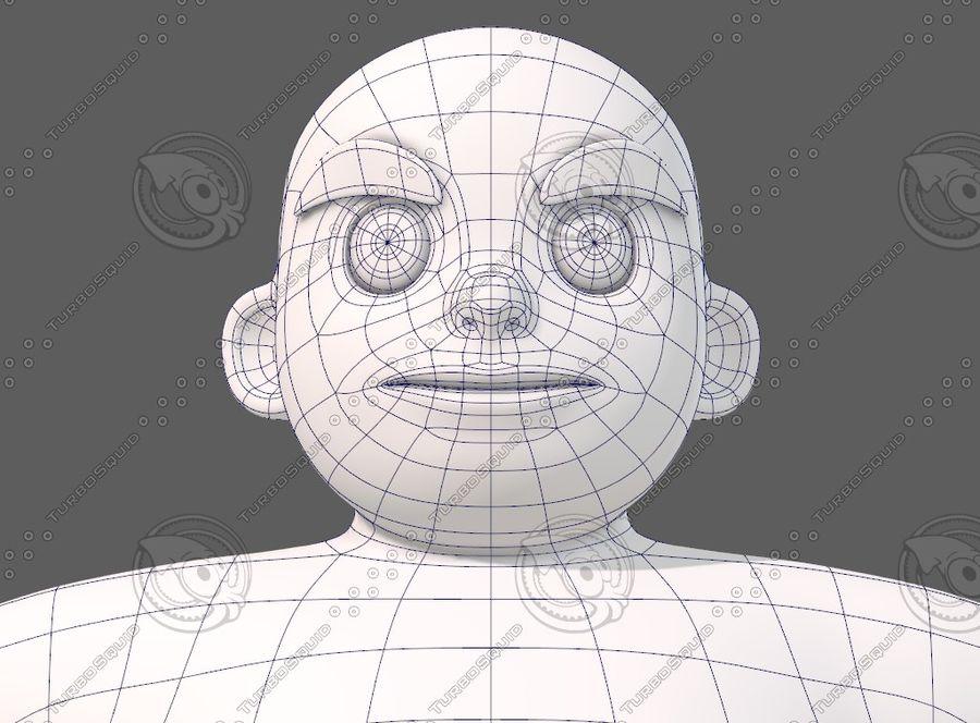 Base mesh boy character V12 royalty-free 3d model - Preview no. 45