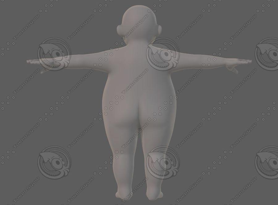 Base mesh boy character V12 royalty-free 3d model - Preview no. 6