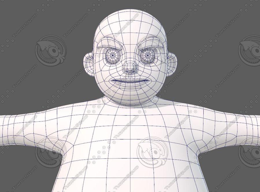 Base mesh boy character V12 royalty-free 3d model - Preview no. 26