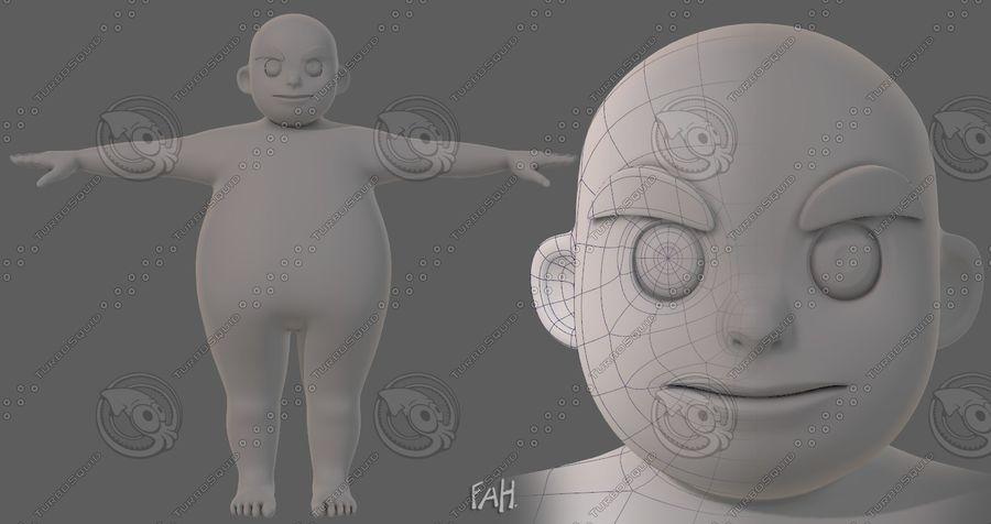 Base mesh boy character V12 royalty-free 3d model - Preview no. 2