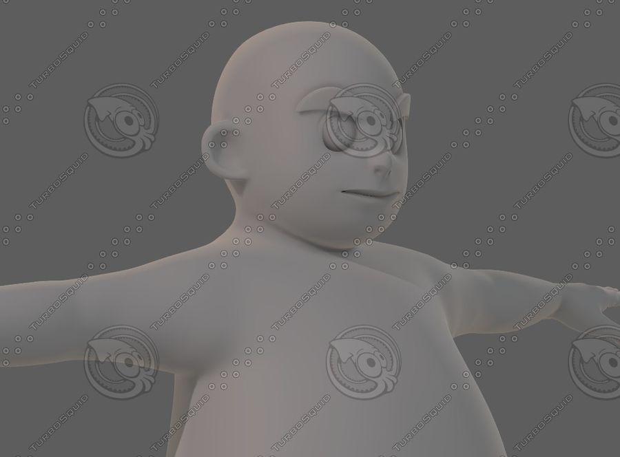 Base mesh boy character V12 royalty-free 3d model - Preview no. 19