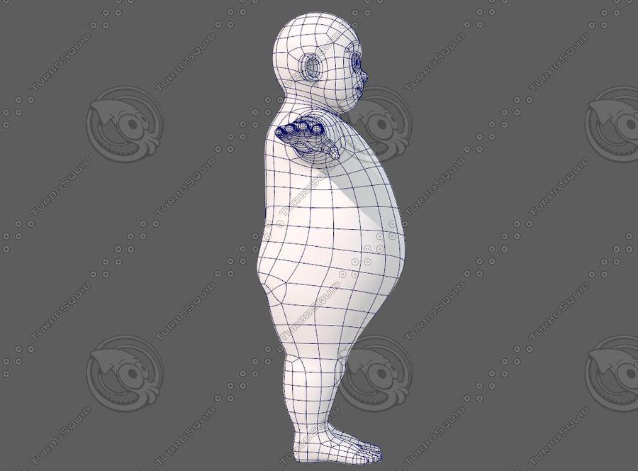 Base mesh boy character V12 royalty-free 3d model - Preview no. 12