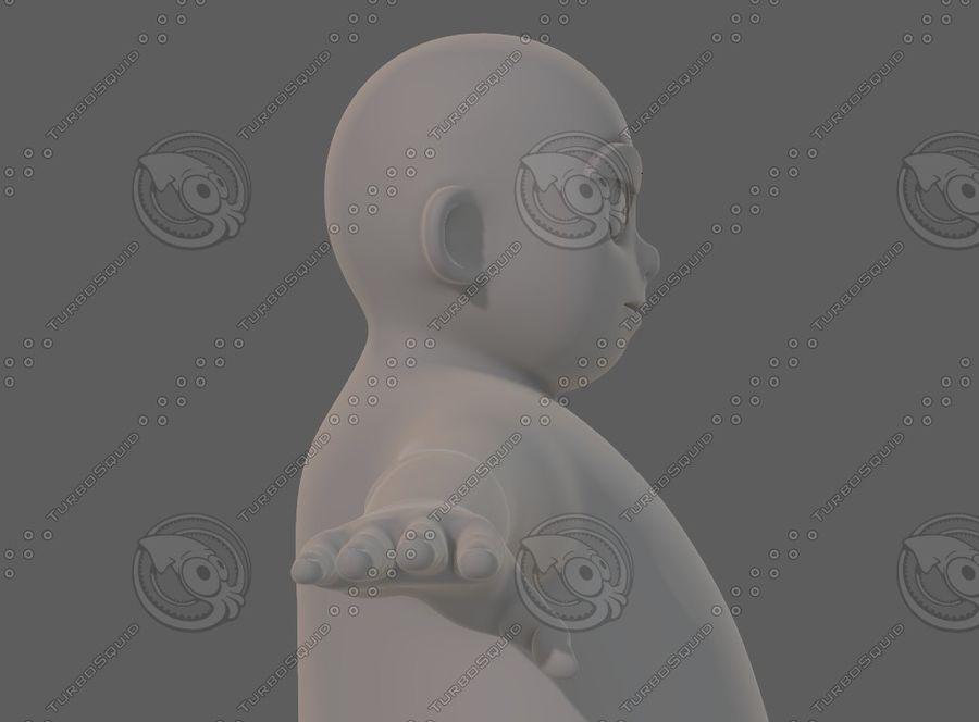 Base mesh boy character V12 royalty-free 3d model - Preview no. 20