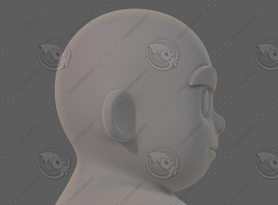 Base mesh boy character V12 royalty-free 3d model - Preview no. 40