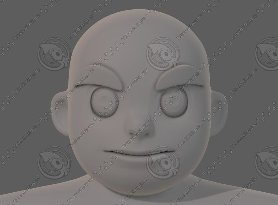 Base mesh boy character V12 royalty-free 3d model - Preview no. 34