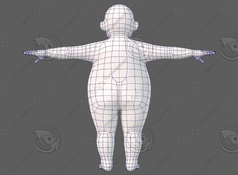 Base mesh boy character V12 royalty-free 3d model - Preview no. 14