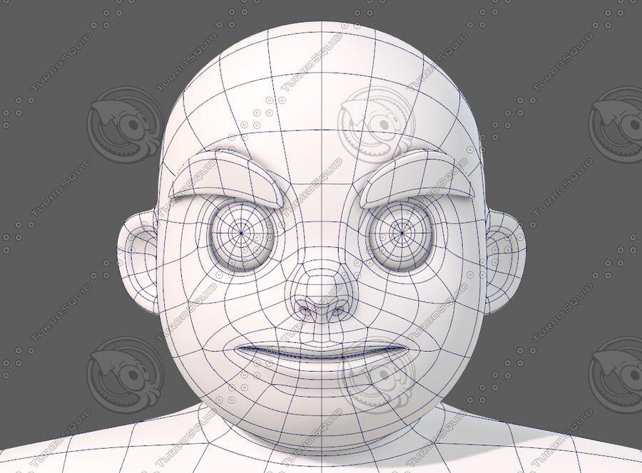 Base mesh boy character V12 royalty-free 3d model - Preview no. 35
