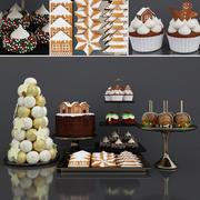 Christmas dessert 3d model