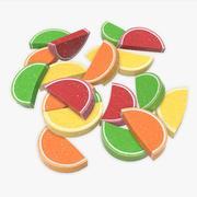 Renkli meyve jöleli şekerler 3d model