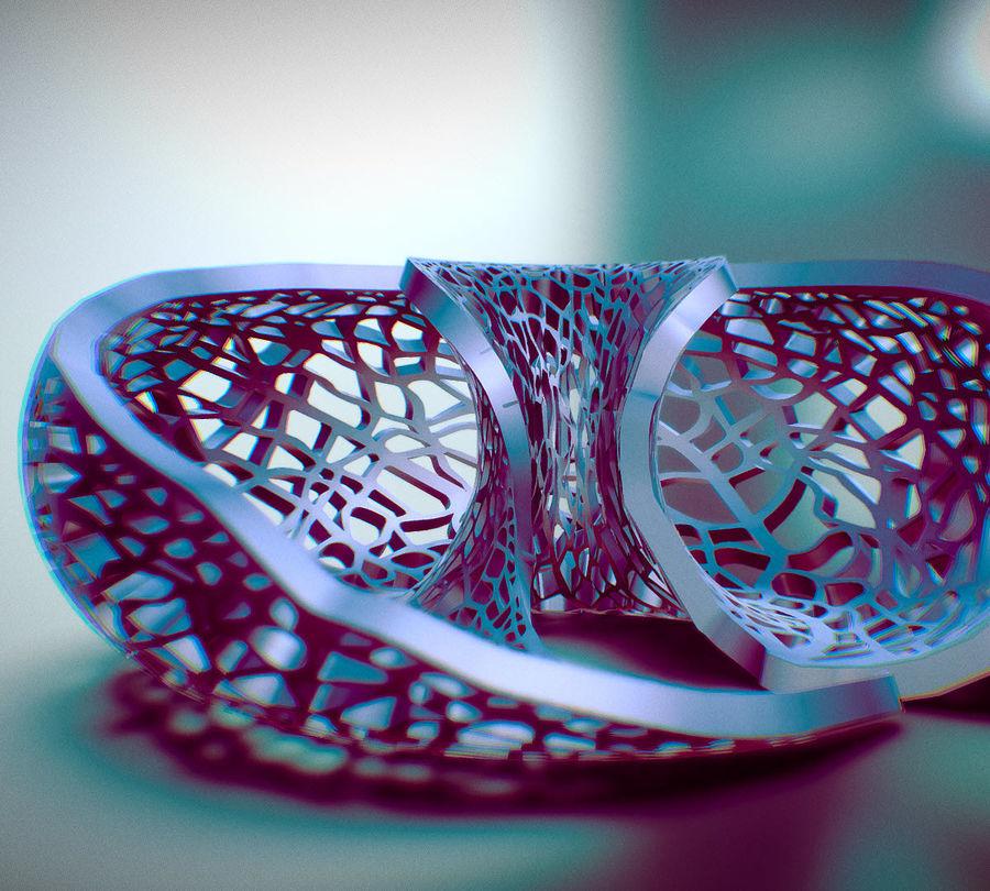 绿叶环面灯罩 royalty-free 3d model - Preview no. 4