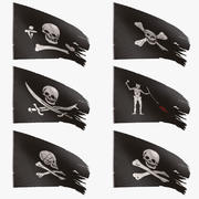 Pirate Flags Collection 3d model