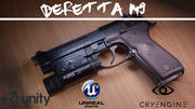 贝雷塔M9A1 3d model