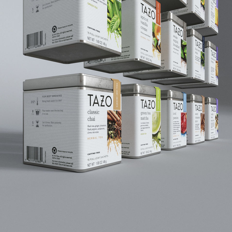 Tazo Tea Canister 3D Model $20 - .max