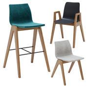 Chaises en bois Herman Miller 3d model