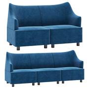 Herman Miller Plex Lounge Мебель 3d model