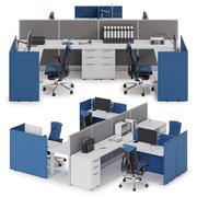 Herman Miller Action Office System v2 3d model