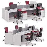 Herman Miller Action Office System v4 3d model