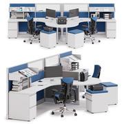 Herman Miller Action Office System v6 3d model