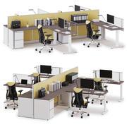 Herman Miller Action Office System v7 3d model