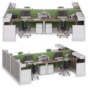 Herman Miller Action Office System v8 3d model