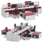 Herman Miller Action Office System v9 3d model